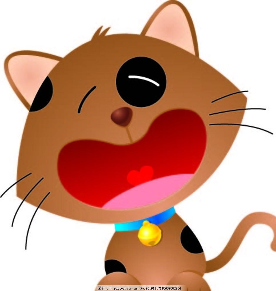 爱哭猫咪 创意图案 卡通背景 抽象动物 水草 卡通动物 趣味背景 可爱