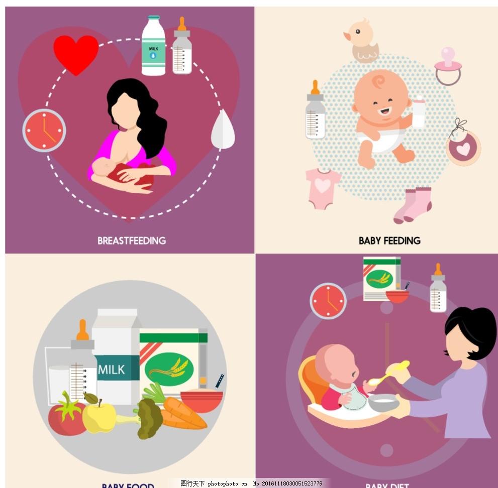 宝宝喂养 母乳喂养 医院展板 提倡母乳喂养 促进科学育儿 母乳易拉宝