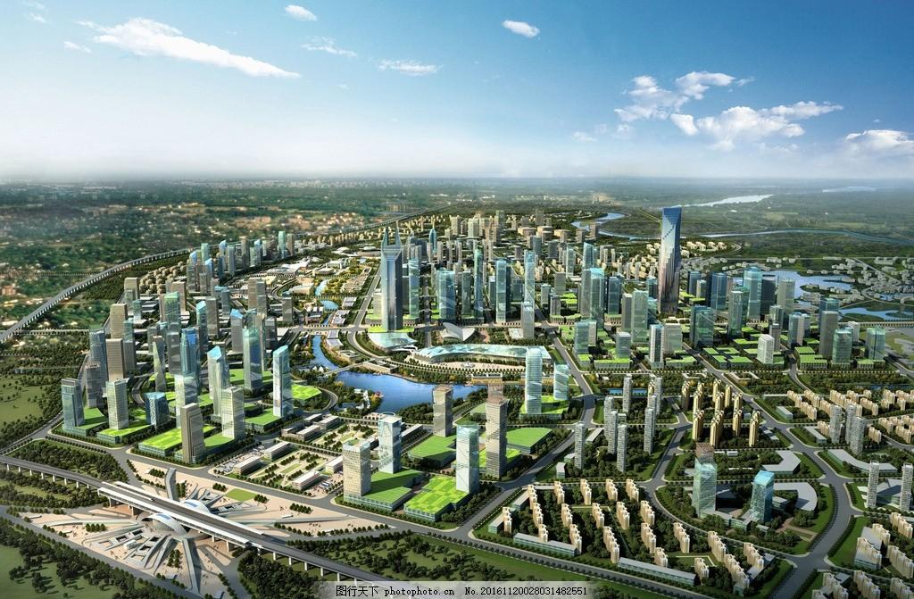 建筑设计 景观设计 绿化 河流 水景 物流中心 城市之心 天府新城 设计