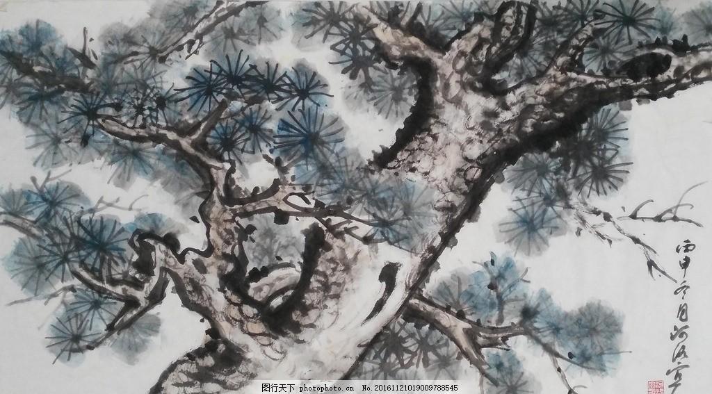 古松图 古松 松树 国画 写意画 书法 仿古画 传统画 古典 水墨 我的国