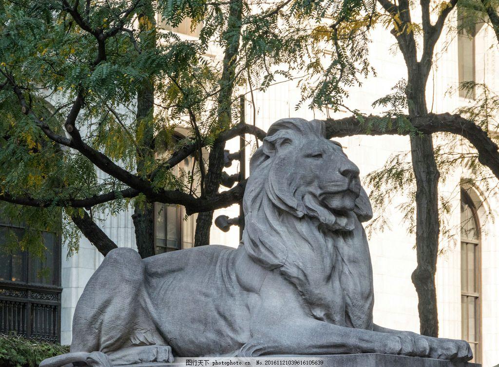 雕塑 狮子 庄严 雄伟 严肃 大方 国外 摄影 建筑园林 雕塑 240dpi jpg