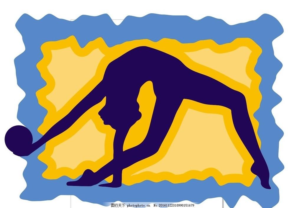 瑜伽手绘背景图