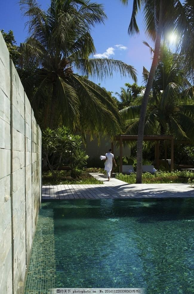 马尔代夫柏悦酒店 花园泳池别墅 私人泳池 泳池别墅 沙滩别墅 柏悦