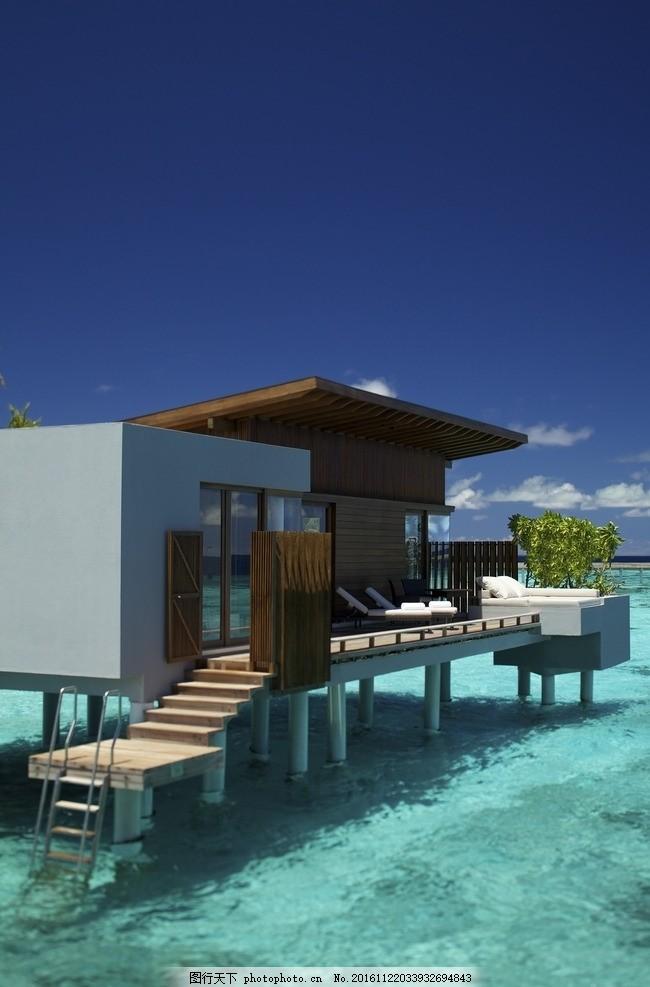 马尔代夫柏悦酒店 水上别墅 水上屋 船屋 白色沙滩 度假酒店 奢华酒店