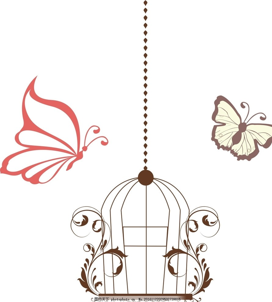 铁笼 儿童简笔画 卡通鸟笼素材 手绘鸟笼素材 卡通小鸟 爱情鸟 手绘
