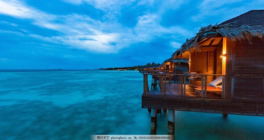 马尔代夫 曼德芙仕岛 夜景 夕阳 海岛 沙滩 海边 度假 摄影 旅游摄影