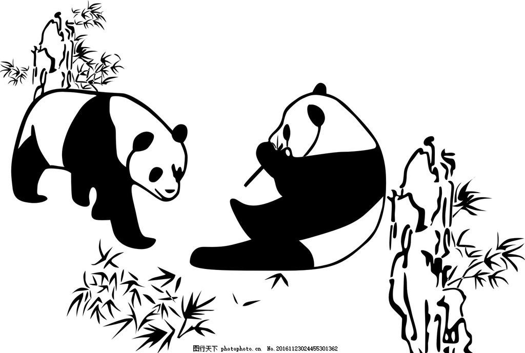 熊猫 动物 熊猫与竹 动物世界 熊吃竹