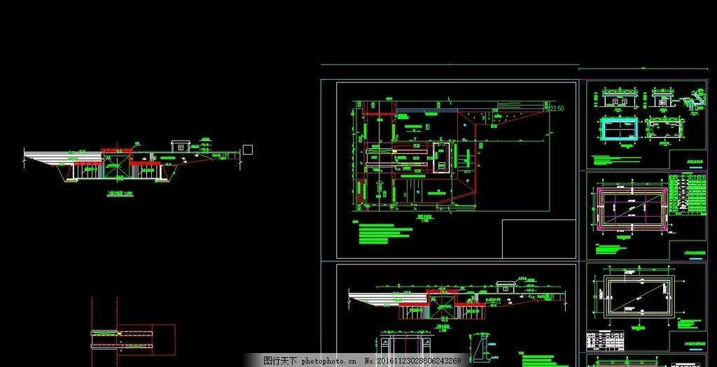 水闸 施工图 cad 园林 景观 绿化cad 设计 环境设计 施工图纸 dwg
