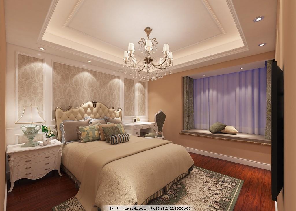 简欧风格卧室装修效果图 简欧 风格      装修        设计 3d设计 3d