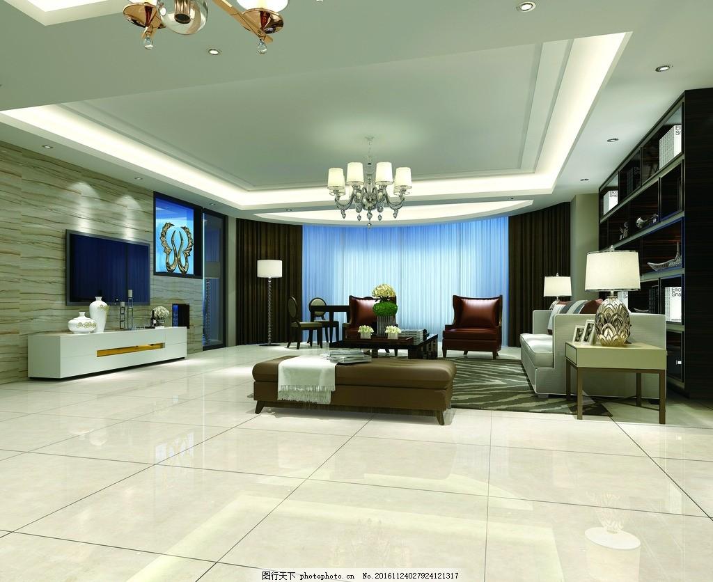 陶瓷效果图 空间效果图 ps铺图        铺砖图 室内效果图 设计 环境