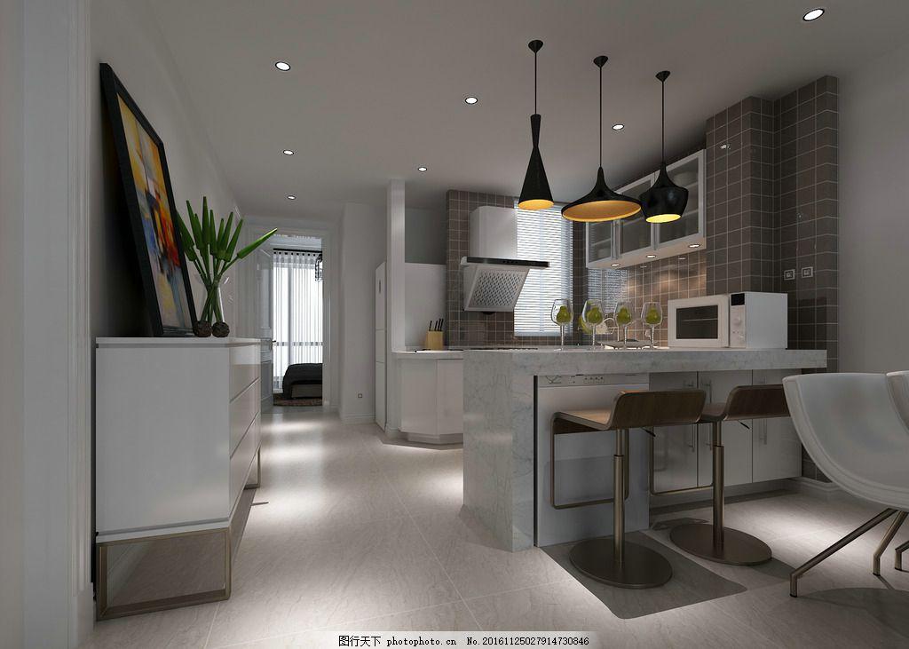 厨房吧台 室内设计        装饰 装修 餐厅 吧台 室内设计效果图未