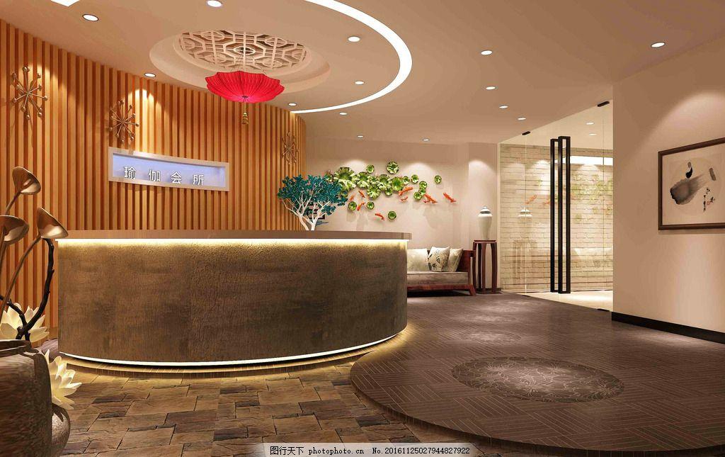 公司前台效果图        3d效果图 室内设计 设计 环境设计 72dpi tiff图片