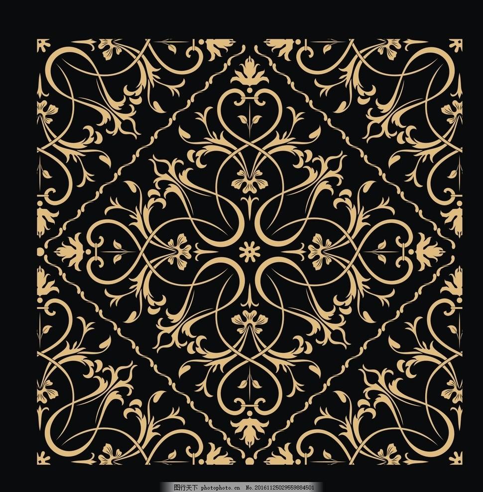 边框相框花边 金色花纹边框 金属边框 中国风花纹 金属花纹 欧式花纹