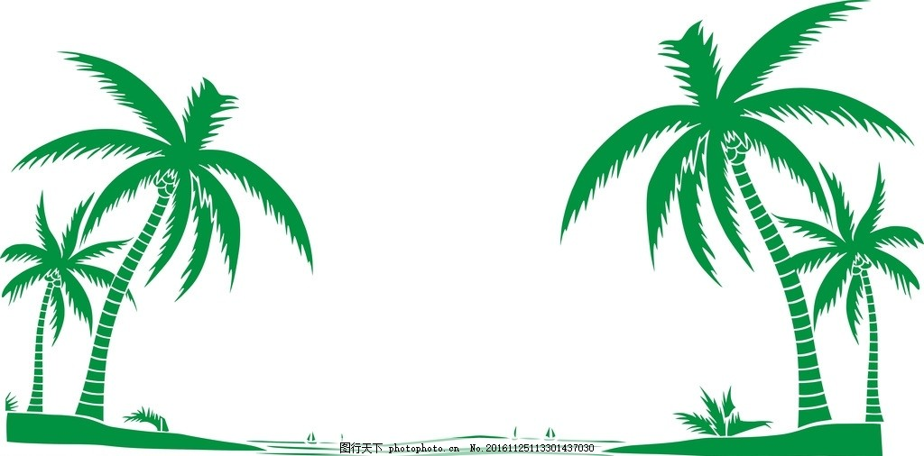 椰子树卡通矢量图
