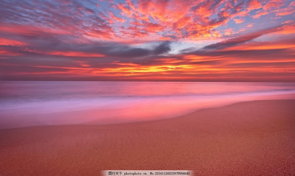 海滩风景 黄昏 夕阳 傍晚 唯美景色 海面风景 大海风景 落日 日落 大