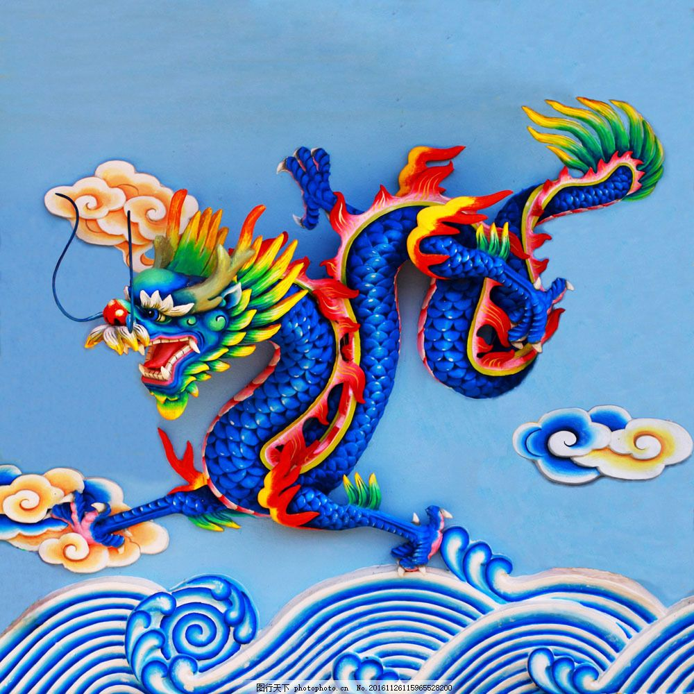 中国龙浮雕图片素材 祥云 水纹 中国龙 浮雕 雕塑 传统文化 中国风