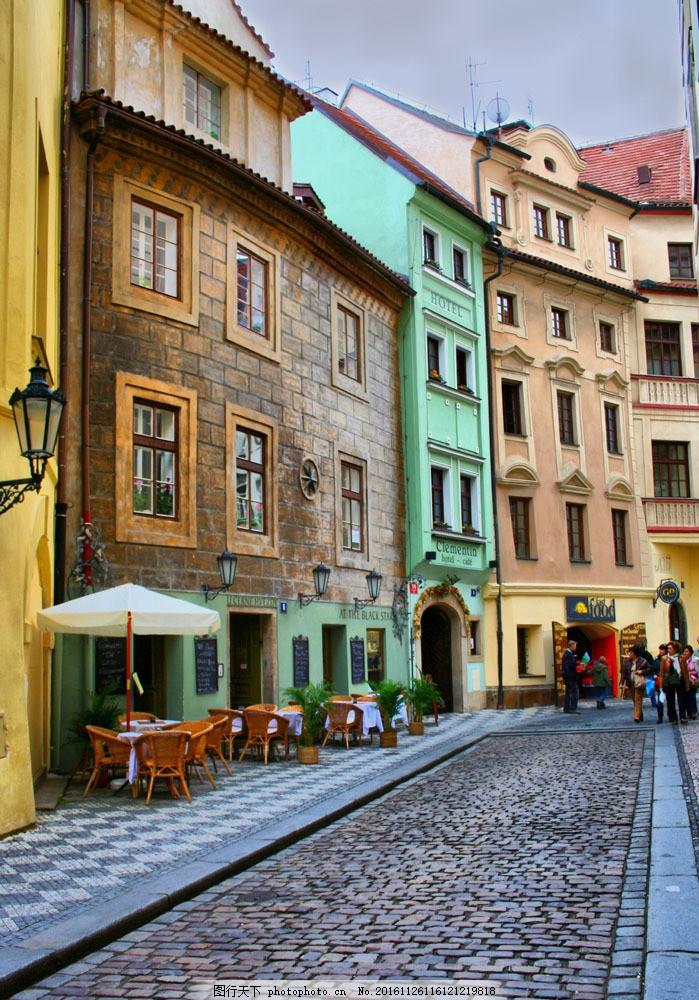 欧式古老城镇街道图片素材 城镇 欧式建筑 古老 怀旧 古街 景色 景物