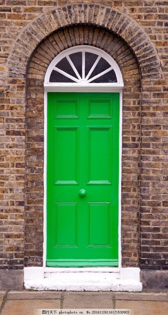 绿色欧式门 绿色欧式门图片素材 绿色欧式门图片下载 古典门窗 古建筑