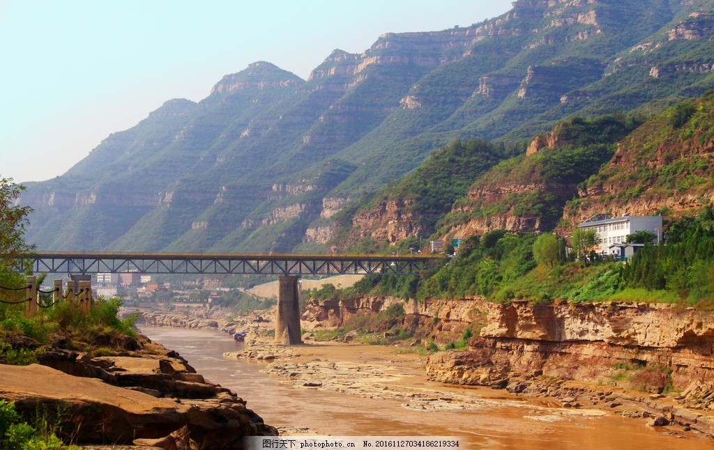 壶口瀑布 山西吉县 国家风景名胜 最大黄色瀑布 起势恢宏 旅游