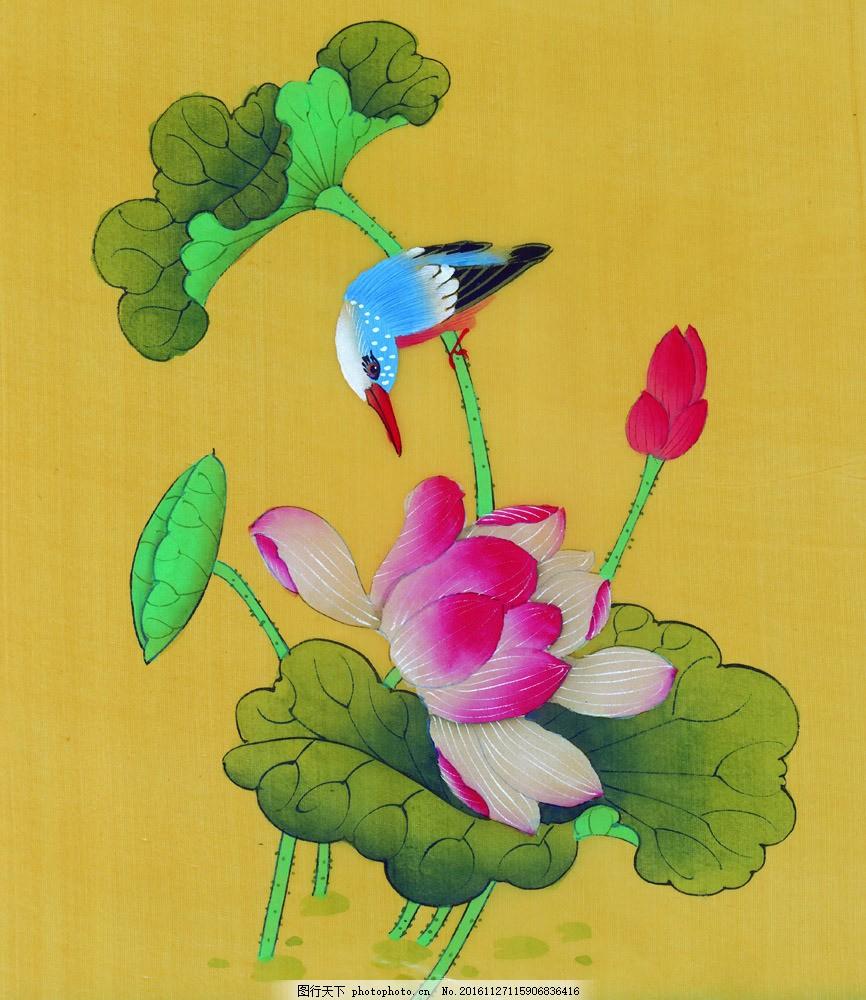 彩色手绘花朵 彩色手绘花朵图片素材 油画 装饰画 国画 无框画