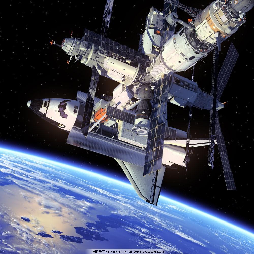 空间站与卫星 空间站与卫星图片素材 人造卫星 太空飞船 宇宙飞船图片