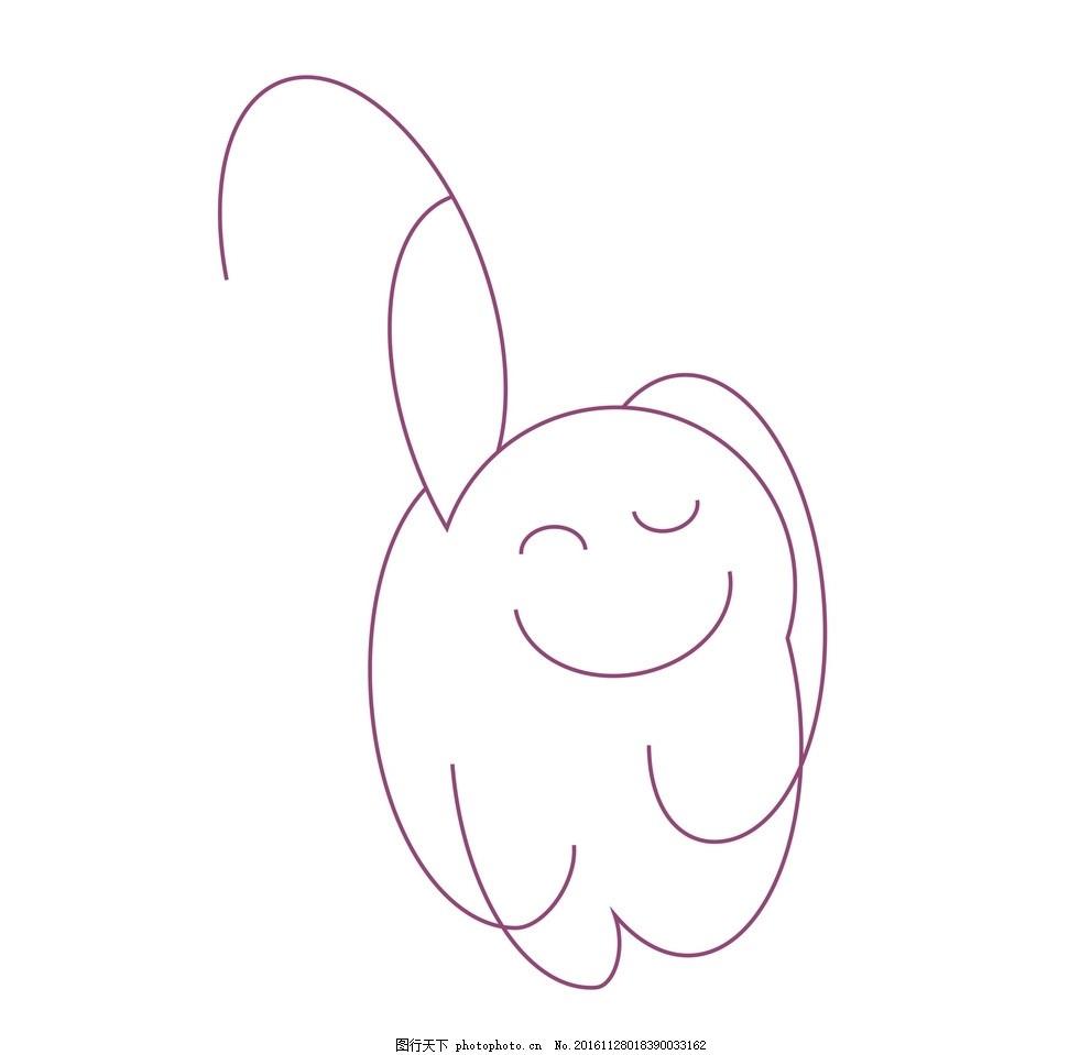 简笔画 插画 创意 意境 矢量图 动漫 猫 手绘 动漫动画图片
