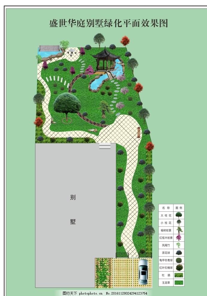 绿化图 效果图 平面图 园林 景观