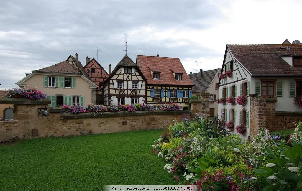 欧洲民居 民居 欧洲 花园 房屋 城镇 摄影 旅游摄影 国外旅游 72dpi
