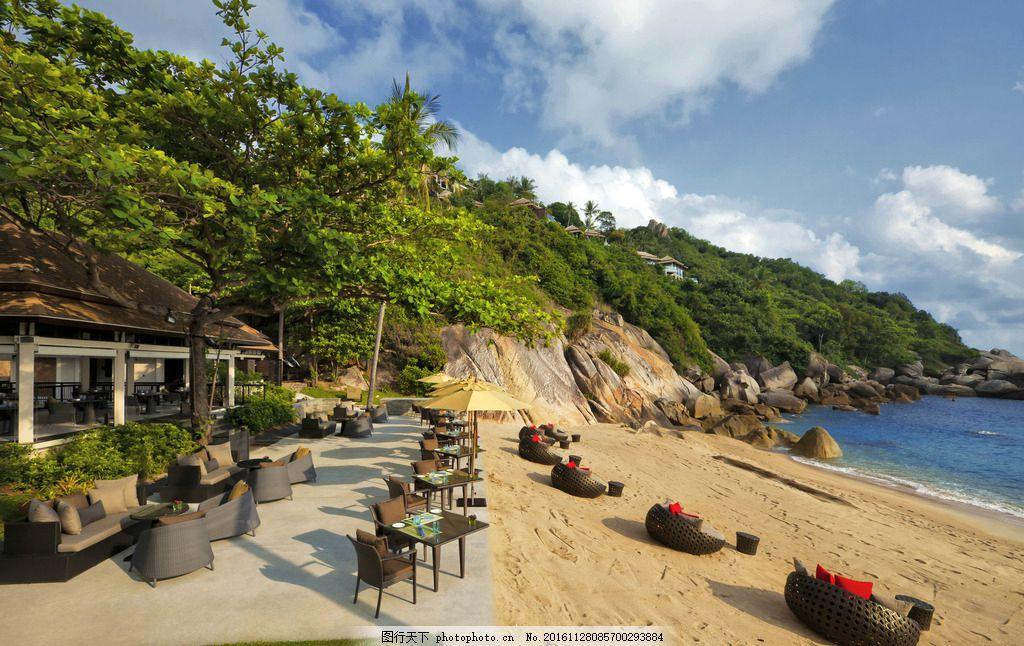 苏梅岛悦榕庄酒店 休闲露台 海景露台 休闲餐厅 露天餐厅 海滩