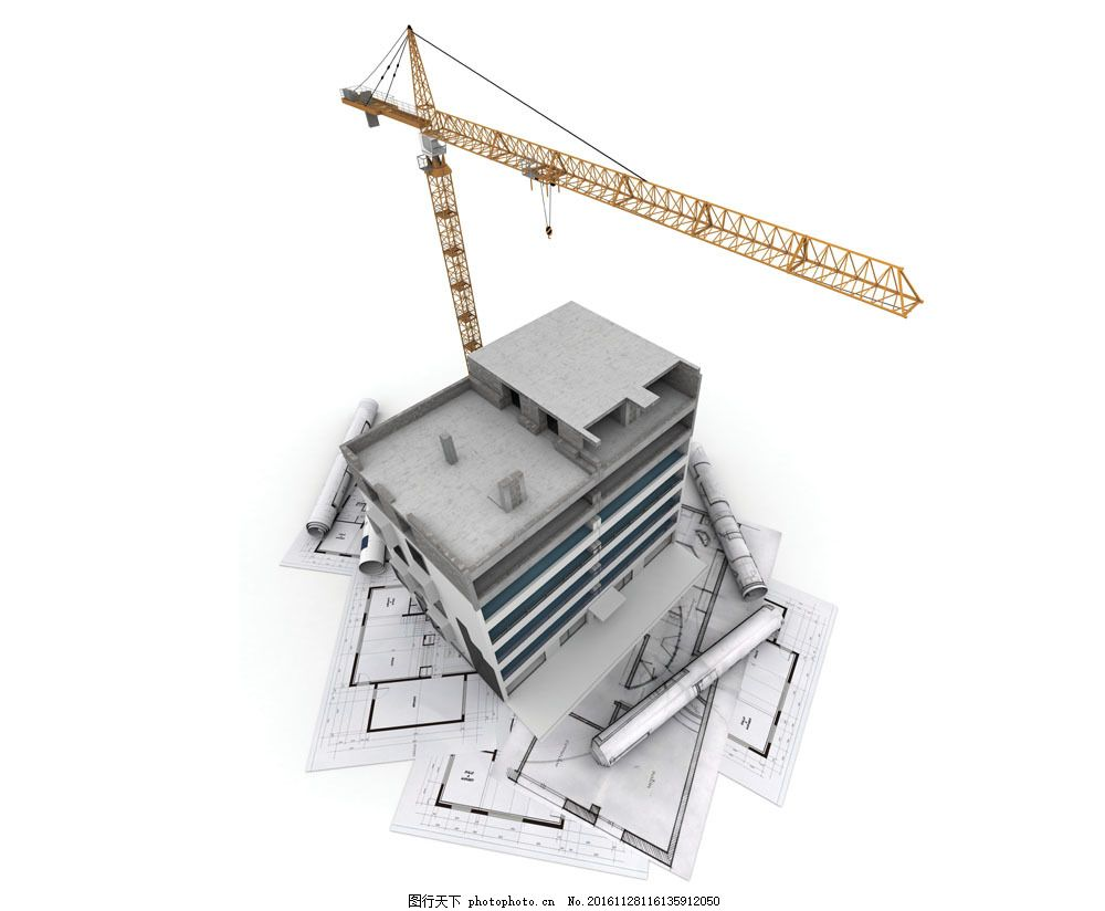 施工工地建筑模型图片