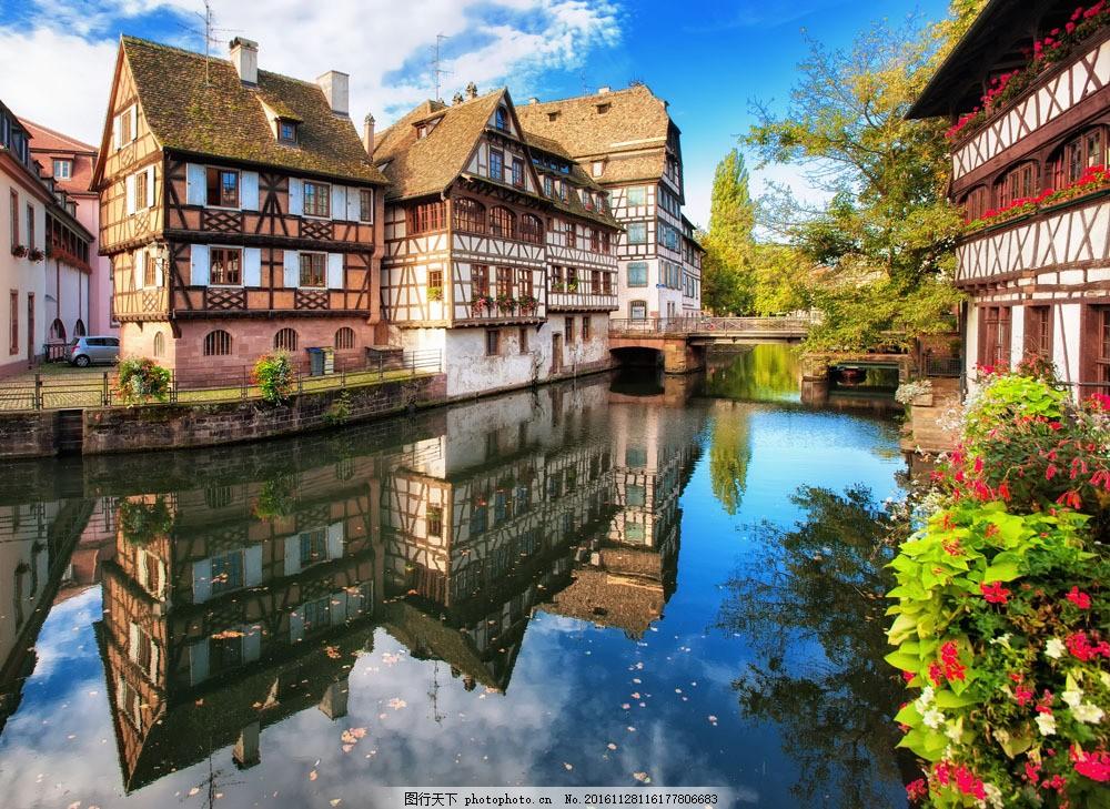 河边的欧洲小镇图片图片