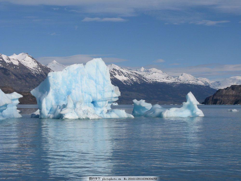 美丽冰川风景 美丽冰川风景图片素材 冰山 冰山风景 北极冰川 南极