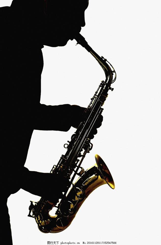 吹萨克斯 吹萨克斯图片素材 乐器 西洋乐器 音乐 人物 人物剪影