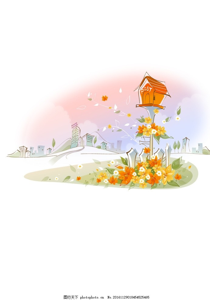 韩式背景 卡通动漫系列 动漫动画 幼儿园背景 春天素材 可爱背景 可爱