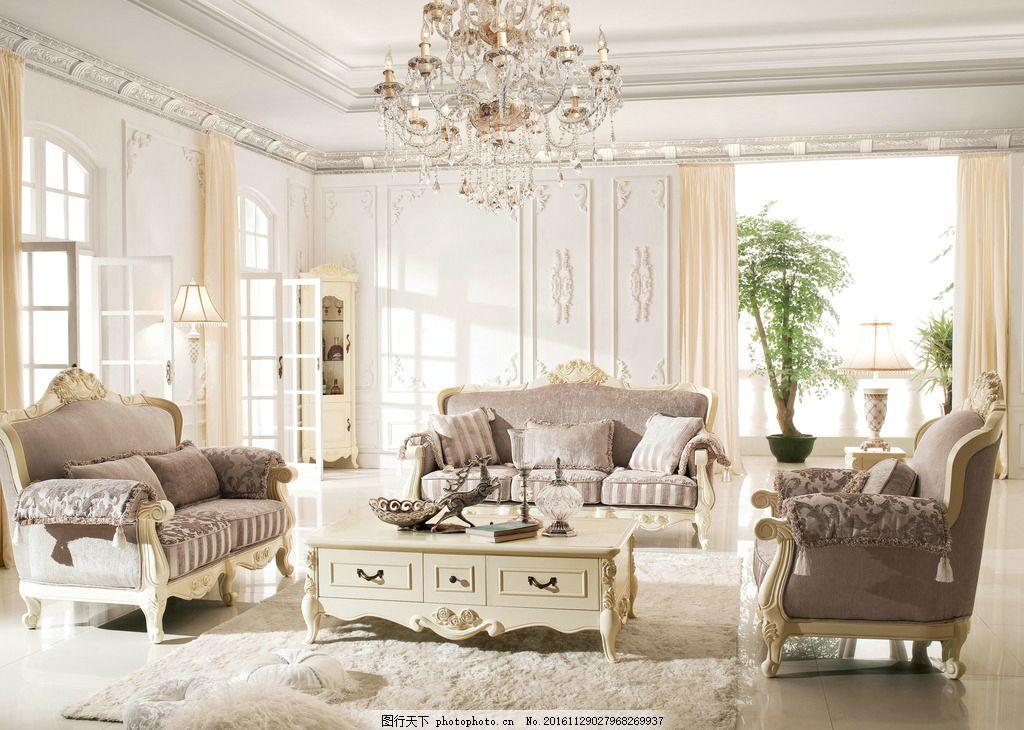 法式沙发 法式 电视柜 沙发 家具 背景 法式套房 设计 环境设计 室内
