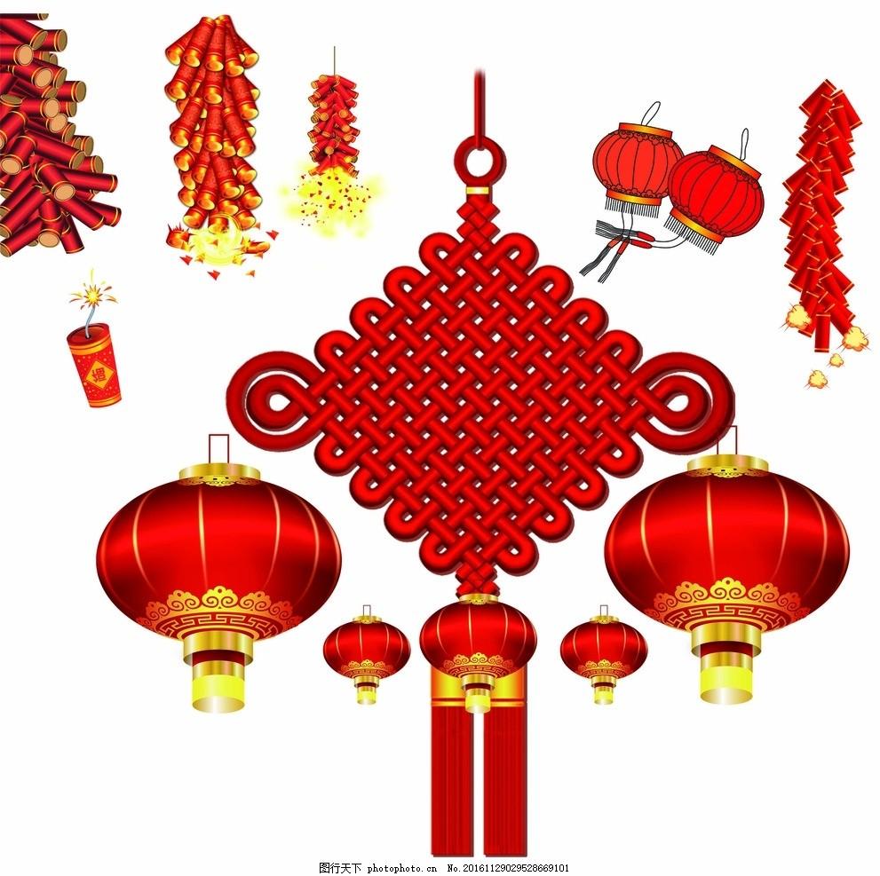 鞭炮和灯笼简笔画_鞭炮 灯笼 中国结