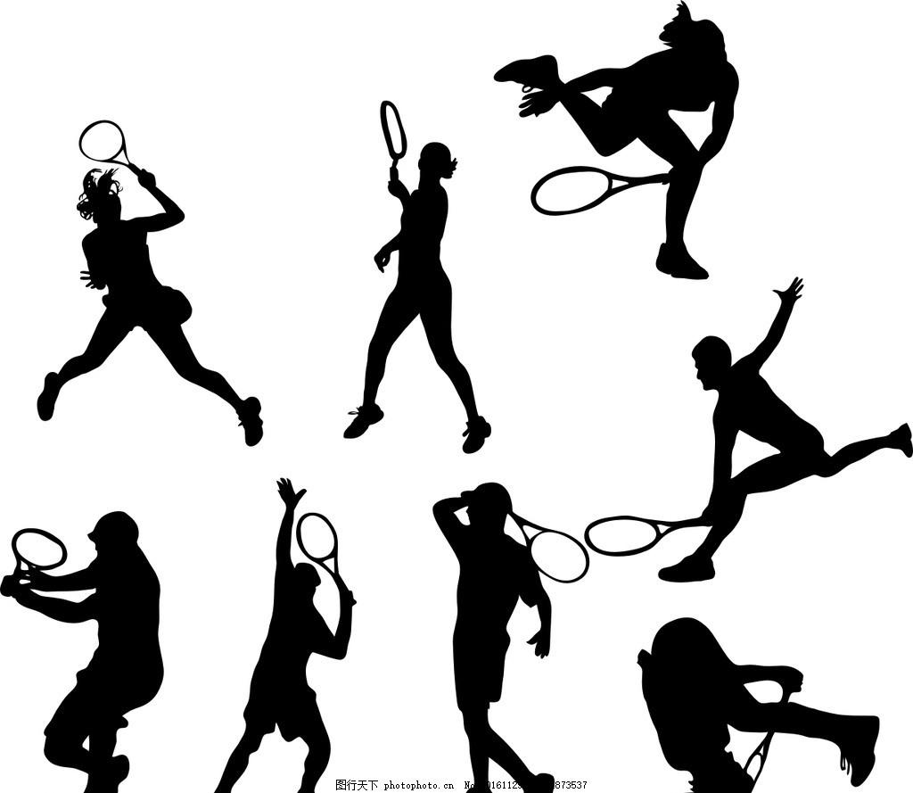 人物剪影 运动人物剪影 矢量素材 黑白 奔跑 运动项目 奥运会运动
