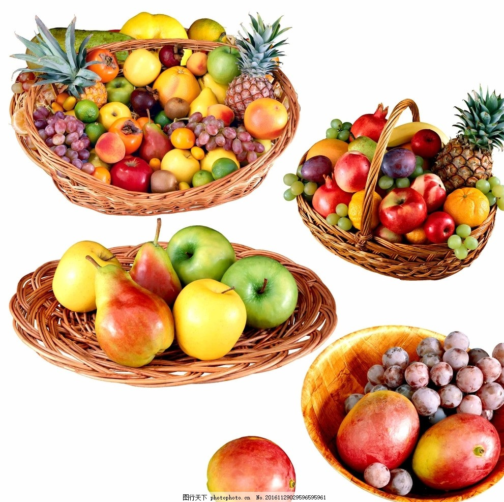 新鲜水果 水果大丰收 果盘素材 水果拼盘 水果 拼盘 果盘 盘子 水果篮