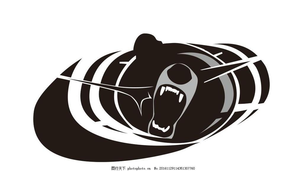 熊 棕熊 黑熊 动物 野生动物 插画 装饰画 简笔画 线条 线描
