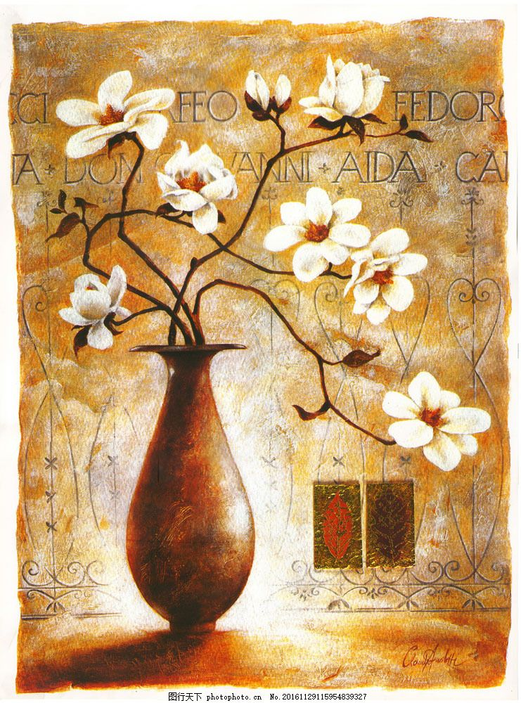 抽象油画装饰画图片