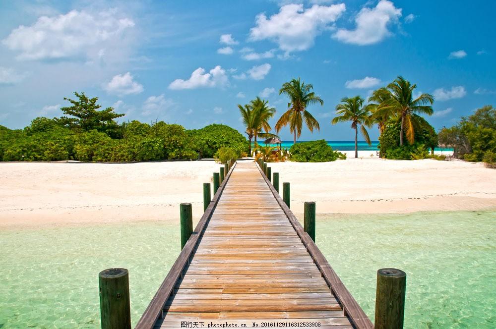 热带海边风景摄影图片