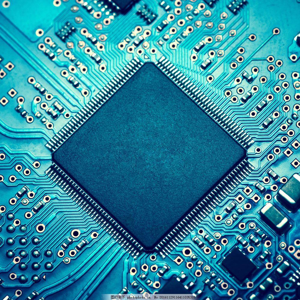 电脑芯片摄影图片素材 电脑芯片 cpu 中央处理器 电脑零件 主板 通讯