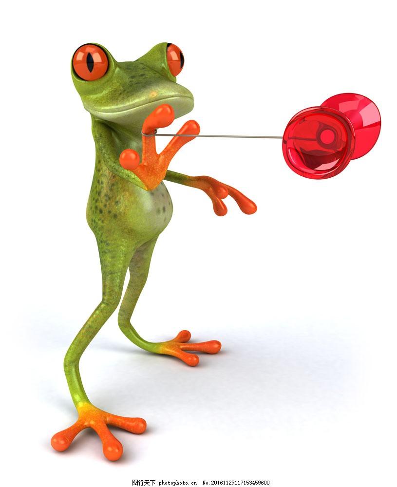 玩悠悠球的3d青蛙图片