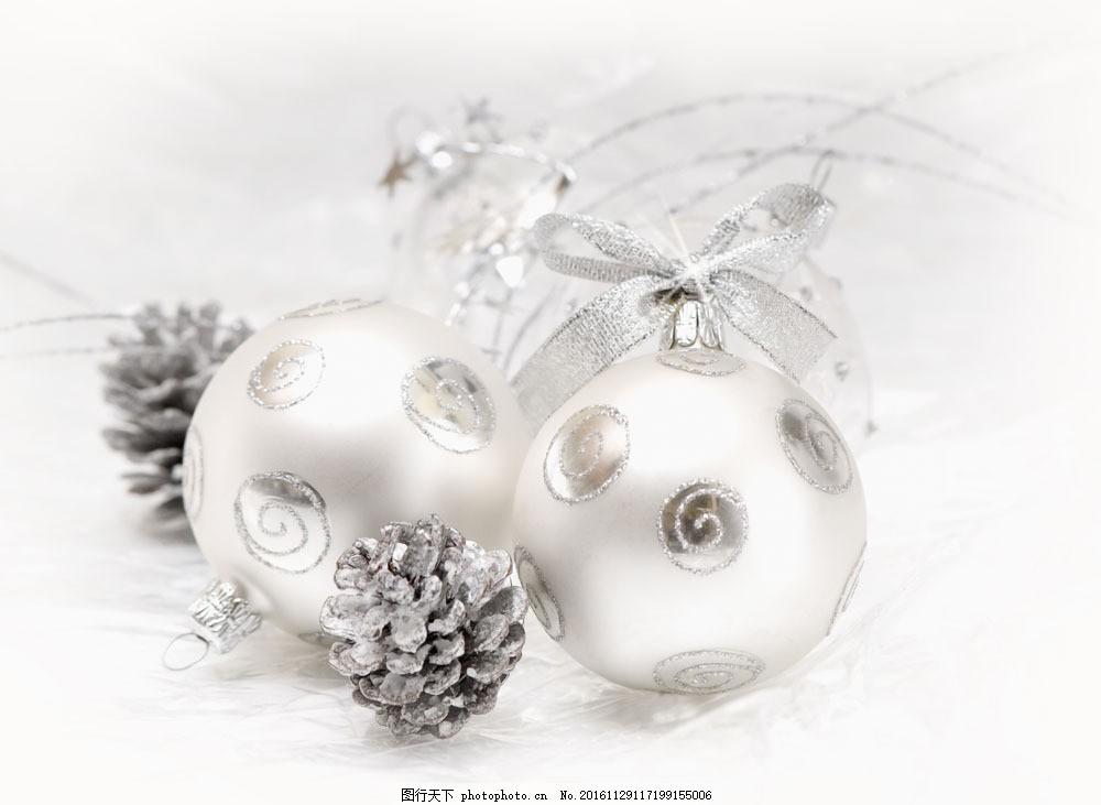 圣诞节白色饰品图片