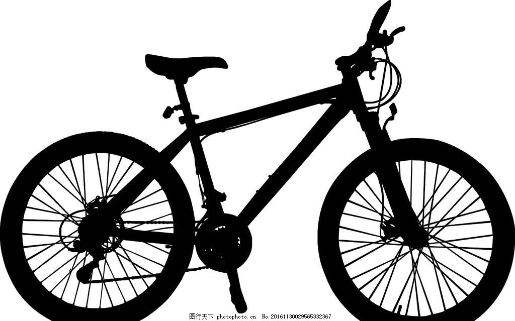 自行车剪影 黑白自行车 骑行 锻炼 环保车 自行车队 自行车比赛