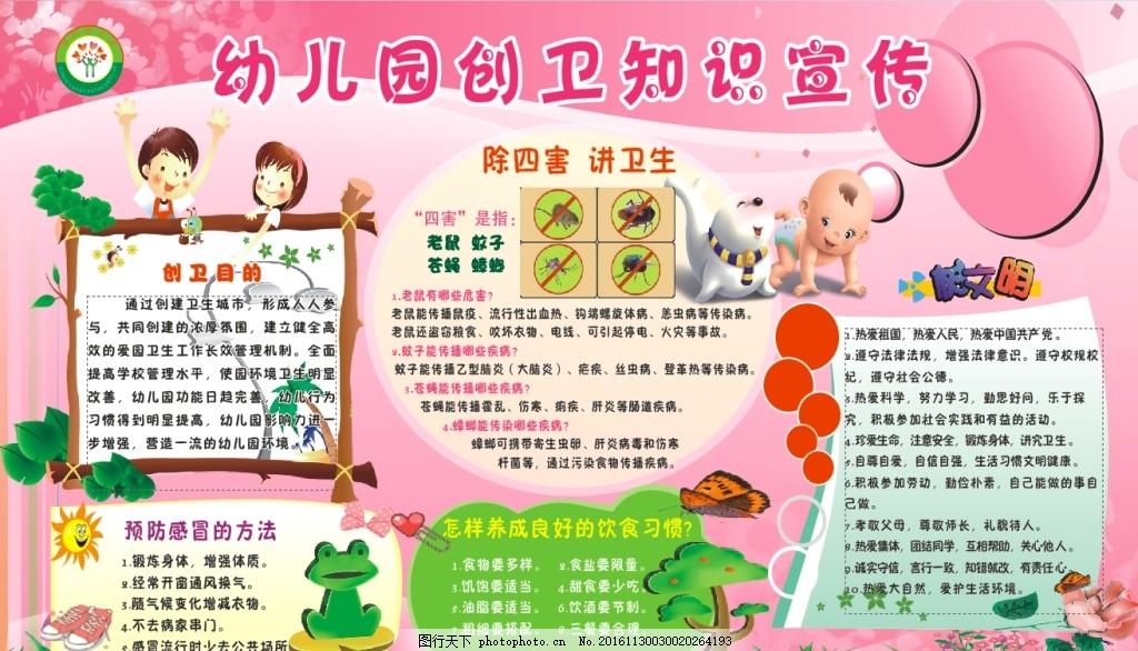 幼儿园创建卫生城市宣传栏