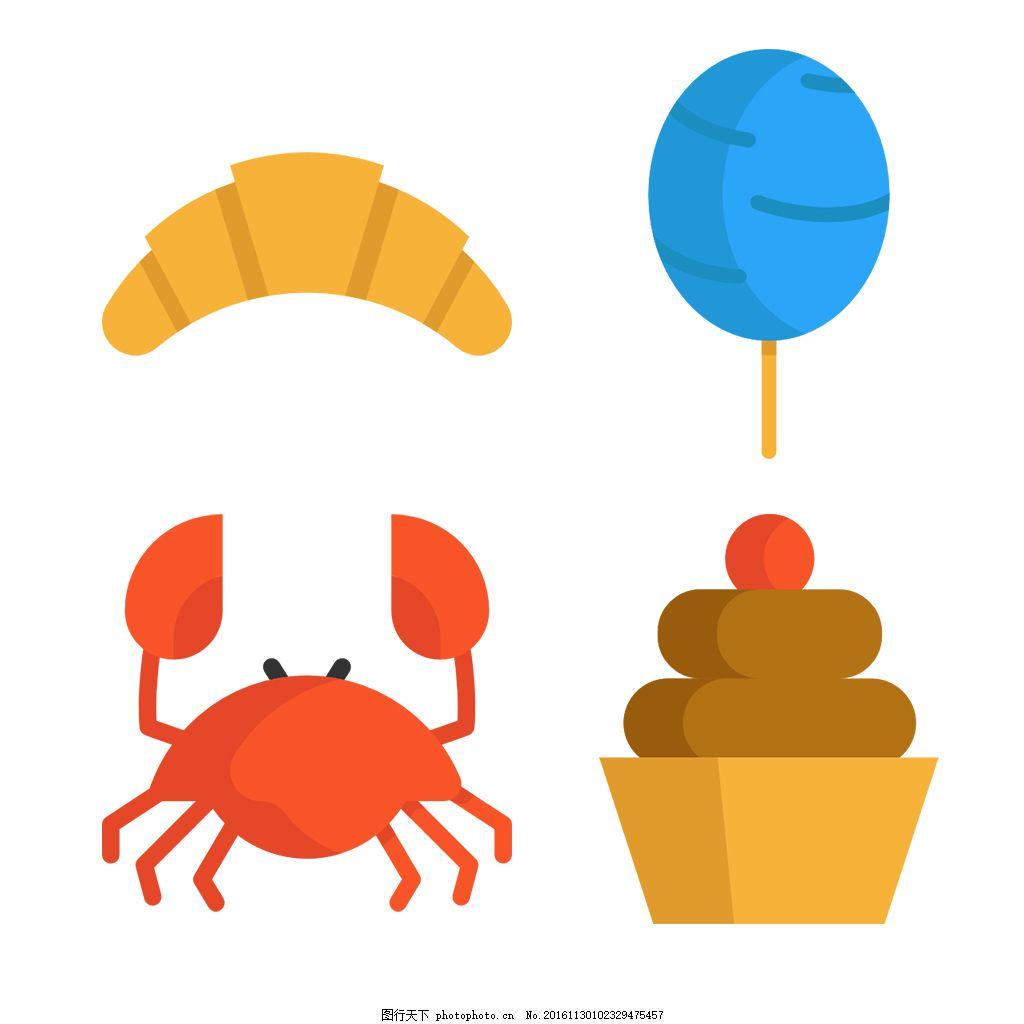 零食可爱icon图标 填充 线性 扁平 手绘 单色 多色 简约 精美 可爱图片