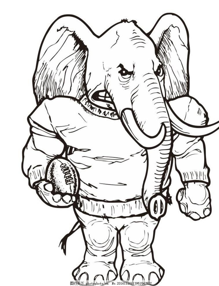线条 线描 简画 黑白画 卡通 手绘 简单手绘画 矢量图 野生动物 设计