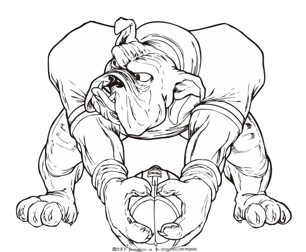 笔画 线条 线描 简画 黑白画 卡通 手绘 简单手绘画 矢量图 野生动物