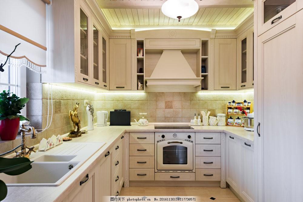 现代欧式厨房效果图图片